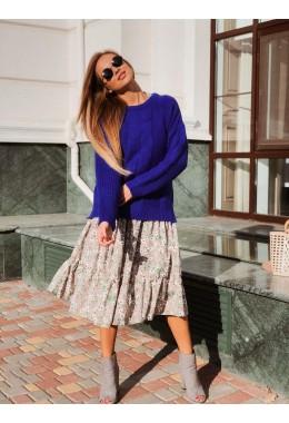 Базовый свитер цвета электрик