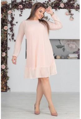Платье персиковое двойка