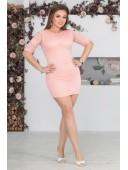 Платье пудровое гипюровое