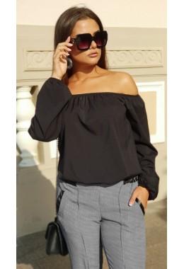 Блуза Однотон черная