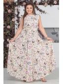 Легкое платье в пол с принтом