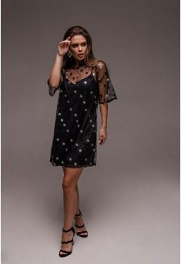 Очень красивое вечернее платье в крупные звезды