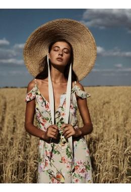 Цветочный длинный сарафан