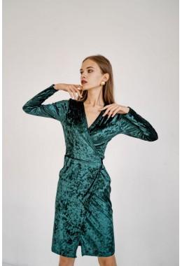 Изящное бархатное платье на запах