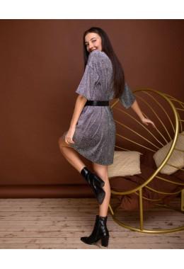 Платье-футболка черное